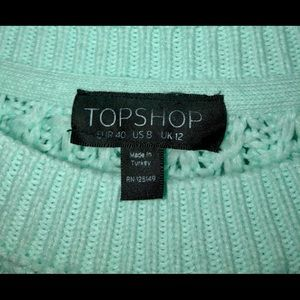 Topshop Sweaters - Topshop mint green sweater size 8